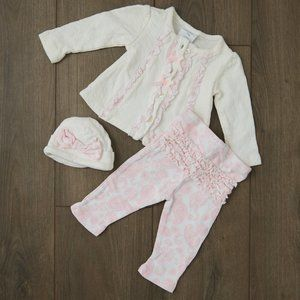Baby Girl, 3-Piece Outfit, Size 6-9 Months